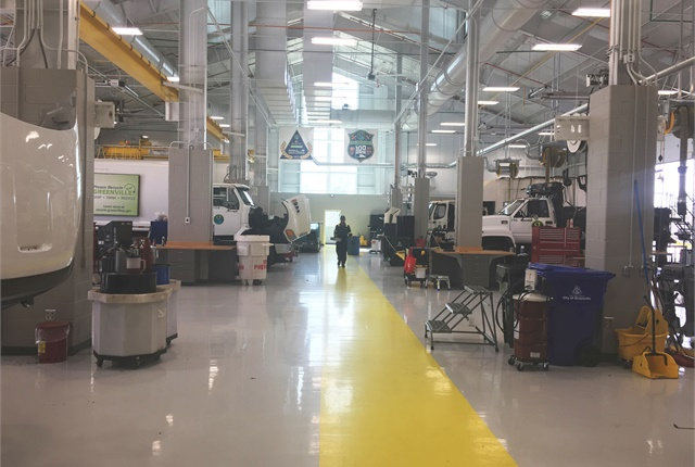 The City of Greenville's fleet facility is divided into three sections: heavy/commercial repair, automotive repair, and administration/parts. Photo courtesy of City of Greenville