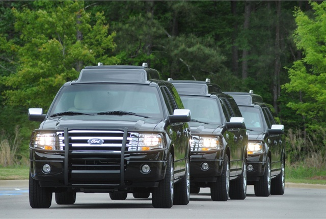 The MD XUV Motorcades are designed for for high profile individuals, heads of state, and others who need personal protection
