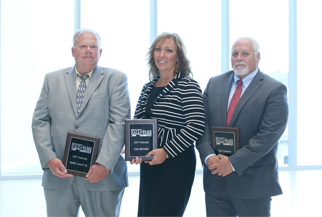 The three Hall of Fame inductees present at GFX were (l-r) Keith Leech, Sr., Lisa Bernier, and Steven Saltzgiver. Photo: Natalia King