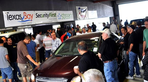 Photo of the Houston Auto Auction courtesy of ServNet.