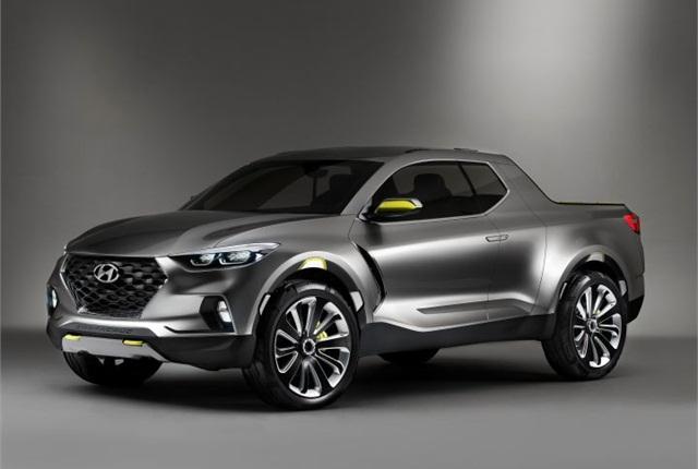 Photo of Santa Cruz crossover truck concept courtesy of Hyundai.