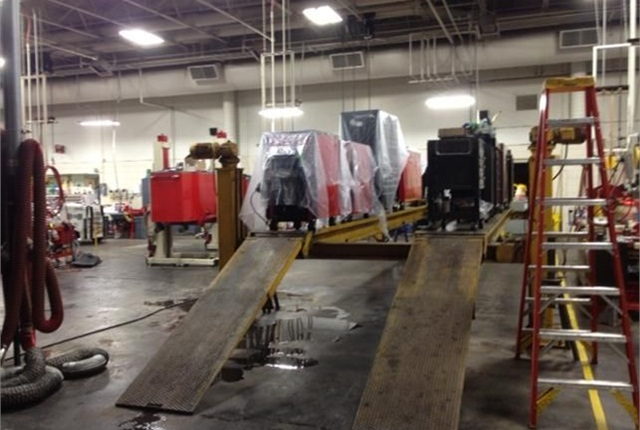 Technicians stored their tool on raised platforms. Photo courtesy of City of Loveland.