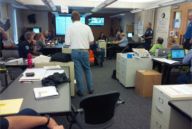 Loveland's Emergency Operations Center in action. Photo courtesy of City of Loveland.