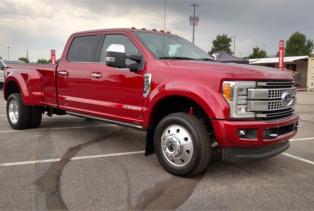 Like all new SuperDuty pickups, this F-450 SuperCrew has an aluminum cab, front fenders, hood and cargo bed. Photos by Tom Berg.