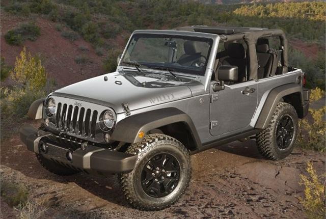 Photo of 2015 Jeep Wrangler courtesy of FCA US.