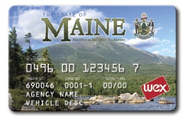 An image of the fuel card that employees of the State of Maine will use as part of the State's fuel card program with WEX Inc.