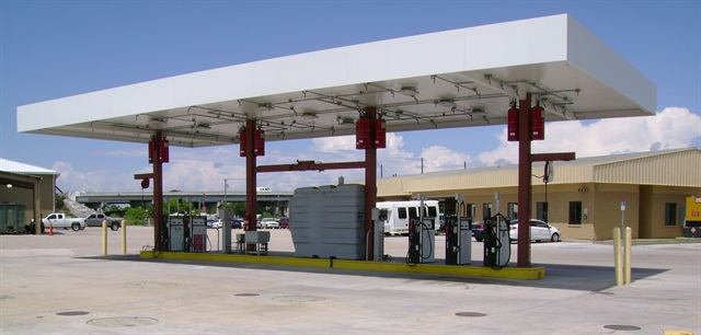 Pictured is one of Manatee County's eight fuel sites.