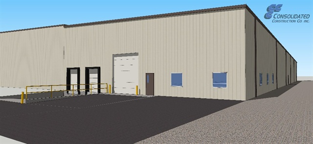 Design rendering of new warehouse courtesy of Marion Body Works.