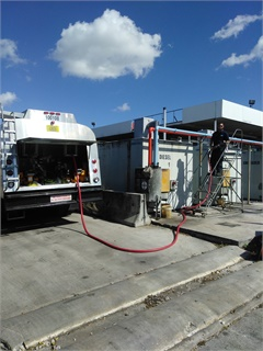 In several cases, Miami-Dade County fleet had to send personnel to its automatied fueling sites to manually fuel county vehicles. Photo courtesy of Miami-Dade County