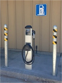 The charging station at Hauke Park in Mill Valley, Calif. Photo courtesy City of Mill Valley.