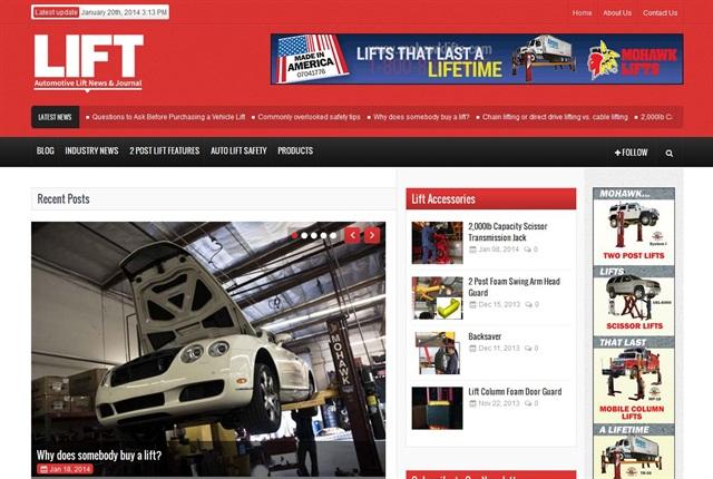 Screencapture of www.autoliftmag.com