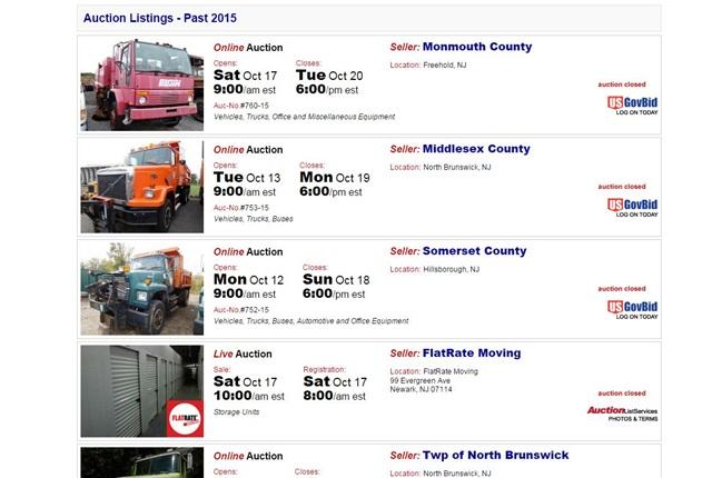Screencapture of www.auctionlistservices.com