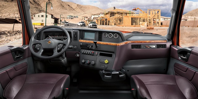 The MV Series was designed with the same driver-centric features seen in the company's Class 8 vehicles. Photo: International
