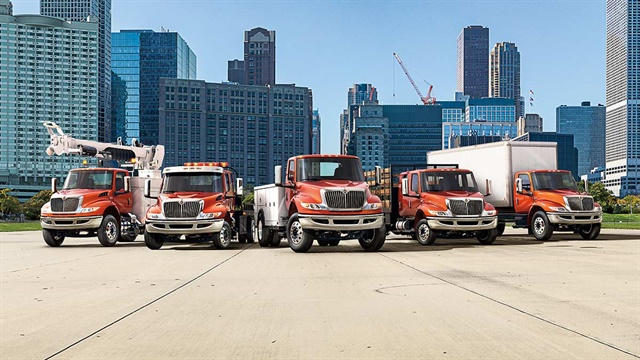 The MV Series is available in a variety of specifications: regular cab, extended cab, and crew cab. Photo: International