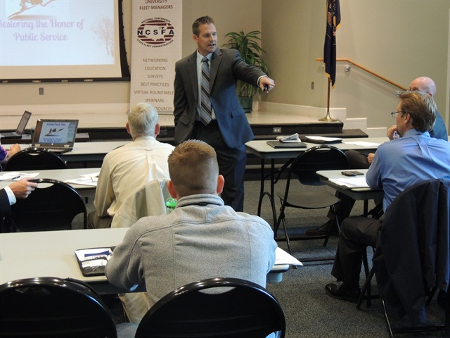 "Dan Chase, leadership development consultant with the Utah Department of Human Resource Management, gave a presentation titled ""Restoring the Honor of Public Service."""