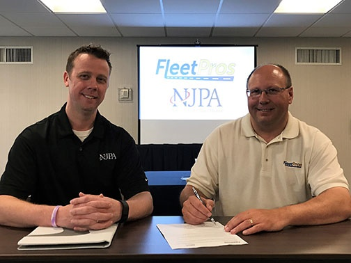 NJPA Contract Administrator, Scott Carr, with Wayne Corum, CHairman of Fleet Pros' National Board. Photo courtesy of NJPA