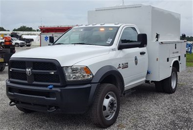 Pictured is one of Osceloa County's new service trucks. Photo courtesy of Osceola County