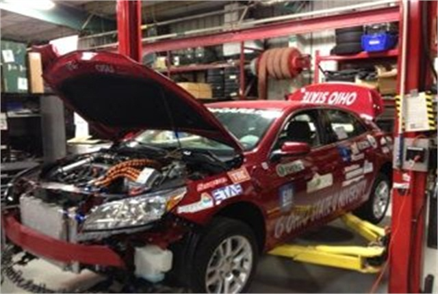 Attendees were able to  tour the Ohio State University Center for Automotive Research. Photo courtesy of MEMA-OH