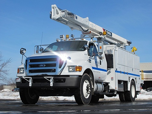 File photo.Philadelphia-based PECO's Terex XT55 hybrid bucket truck that had been supplied by Dueco in 2014.