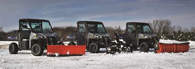 A range of front-end attachments increase the versatility of the Polaris BRUTUS vehicles. (Photo: Polaris Industries Inc.)