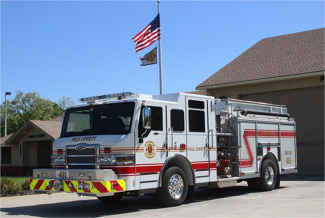 Pictured is a Pierce Velocity pumper already in service with Polk County. Photo courtesy Pierce Manufacturing.