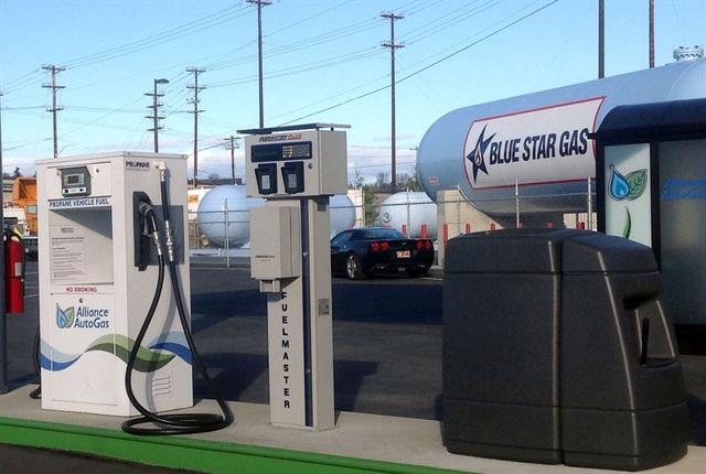 All 11 public propane-autogas refueling stations will be in service by July. Photo courtesy of Blue Star Gas.