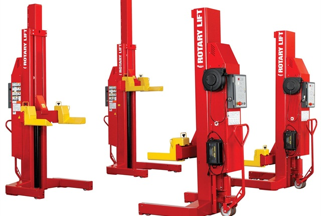Fleets can rent Rotary Lift's MCH418 mobile column lifts as part of the company's new rental program.
