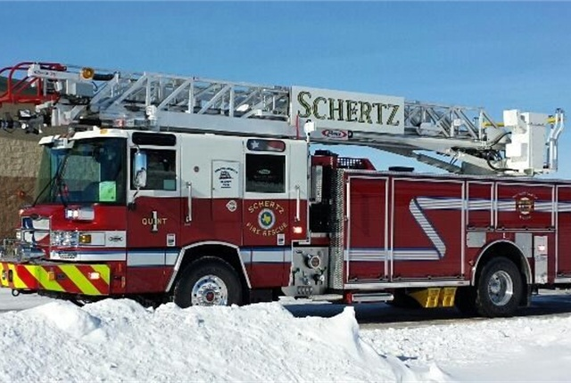 Pictured is one of the city's newer fire apparatus. Photo via Facebook/Schertz Fire Rescue.