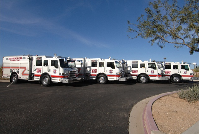 Pierce has placed four Pierce Impel pumpers on duty with the Scottsdale Fire Department (SFD) in Arizona. Photo via Business Wire