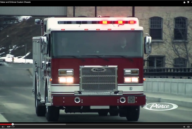 Pierce Manufacturing is a leading custom manufacturer of fire trucks and rescue apparatus. Screen capture courtesy of Pierce via YouTube.