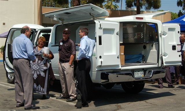 Attendees and vendors are pictured here with a Ram 2500HD CNG truck with Maranda M170 capsule.
