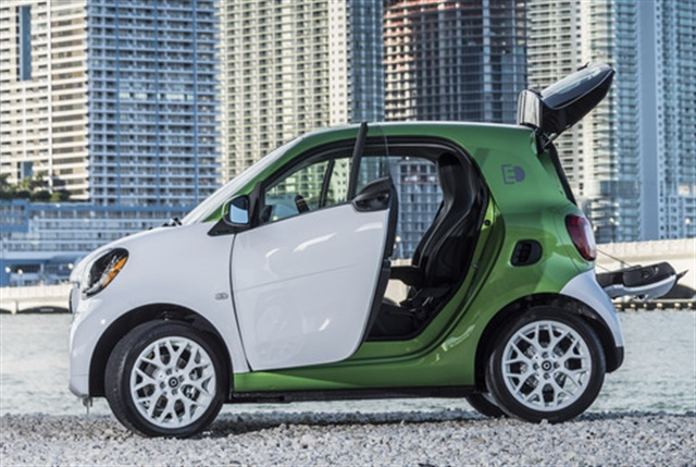 Photo of 2017 Smart Fortwo Electric Drive courtesy of MBUSA.