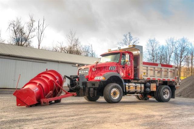 The custom Mack Granite snow plow built for Somerset Township. Photo: Mack