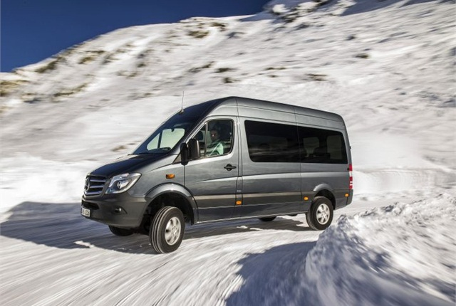 Photo of European version of Sprinter 4x4 courtesy of Mercedes-Benz.