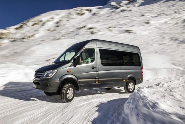 Photo of European version of Sprinter 4x4 courtesy of Mercedes-Benz.