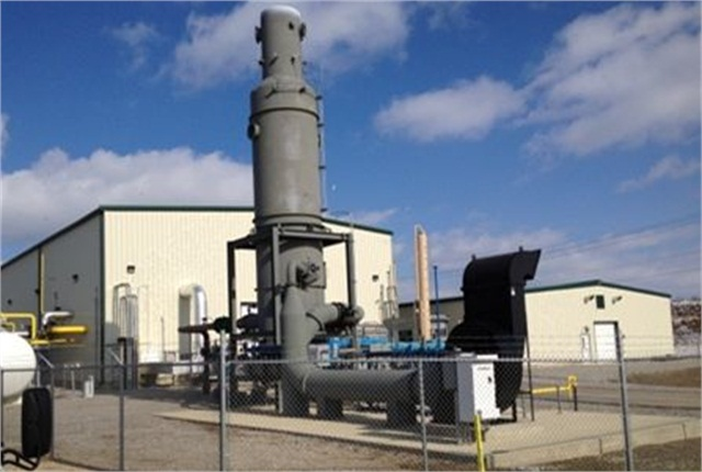 """THE SWACO landfill """"gas to energy"""" facility generates natural gas for the pipeline. Photo courtesy of MEMA"""
