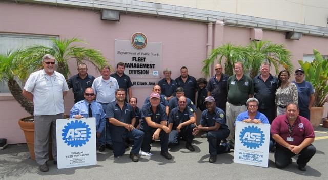 The City of Tampa Fleet Maintenance Division celebrated its third year of achieving ASE Blue Seal recognition. Of the technical staff, 90% are ASE-certified.