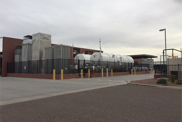 The city's bus maintenance facility has space to convert LNG to CNG. Photo courtesy of City of Tempe