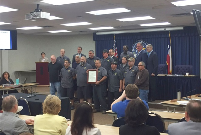 The Texas Department of Public Safety recognized the fleet installation team with a Unit Citation on Feb. 22. Photo courtesy of Texas DPS
