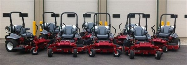 The eight mowers arrived on April 11.  Photo courtesy Town of Fishers.