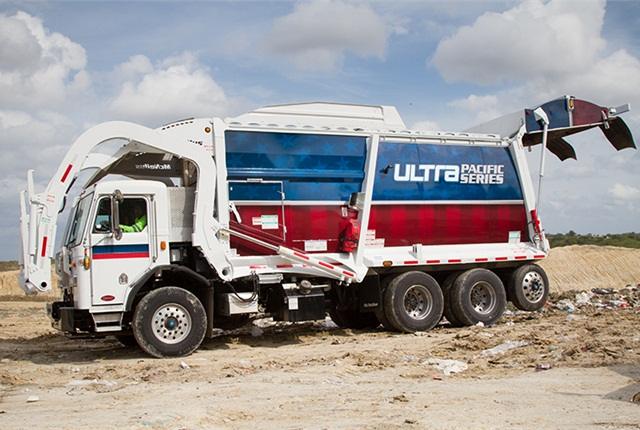 Photo of Ultra front-loader refuse truck courtesy of McNeilus Truck & Manufacturing.