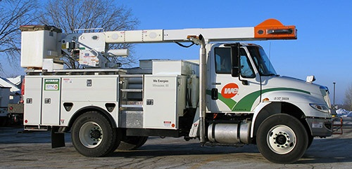 File PhotoWe Energies recently received this hybrid bucket truck that had been supplied by Dueco's Odyne hybrid systems, which is not part of the Dueco acquisition.