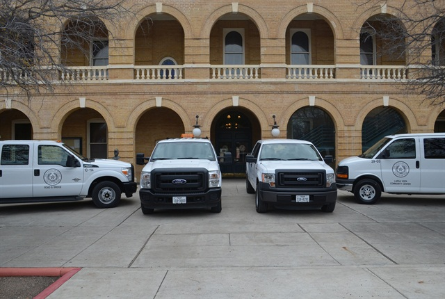 Photo of leased vehicles courtesy of Webb County.