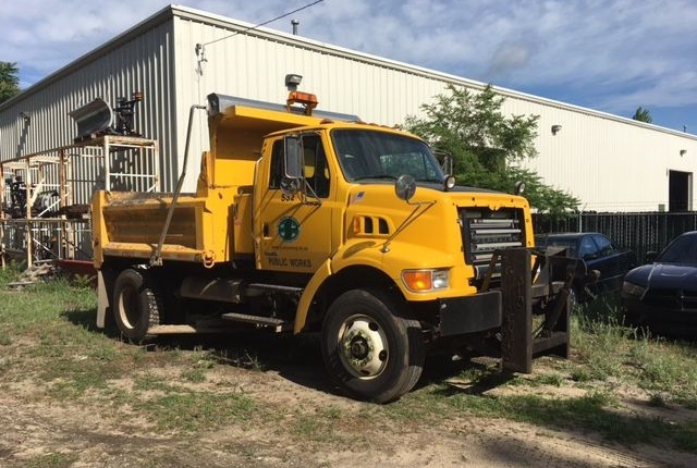 Photo of Public Works dump truck courtesy of City of Wyoming