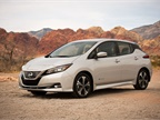 The City of Columus purchased 72 Nissan Leaf electric vehicles. Photo courtesy of Nissan