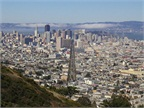 Photo of San Francisco by Vincent Bloch via Wikimedia Commons.