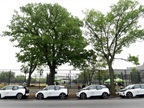 Photo of NYC Parks' i3 cars in the Bronx courtesy of BMW.