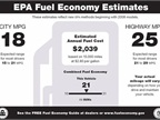 EPA fuel economy sticker via Wikipedia.