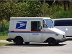 Photo of USPS vehicle via Wikimedia.