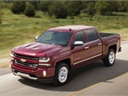 Photo of 2016 Chevrolet Silverado LTZ Z71 crew cab courtesy of GM.